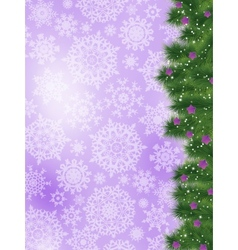 Thank you card on a bright christmas card eps 8 vector