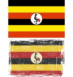 Uganda grunge flag  grunge effect can be cleaned vector