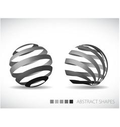 Artistic spheres vector