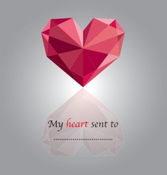 Crystal heart vector