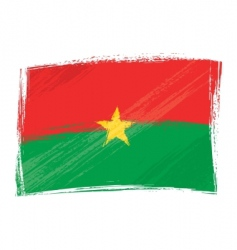 Grunge burkina faso flag vector