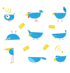 Bluebirds communications character vector