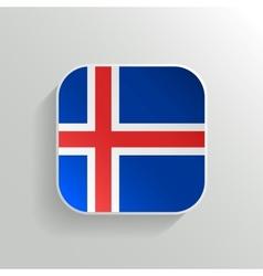 Button - iceland flag icon vector