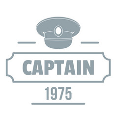 captain logo simple gray style vector image