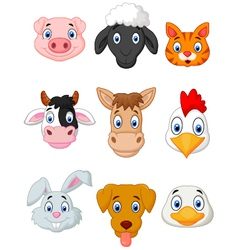 Cartoon farm animal set vector image vector image