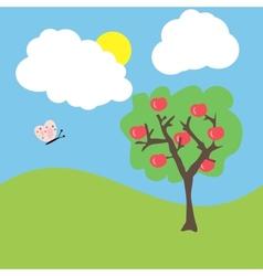 cartoon garden vector image