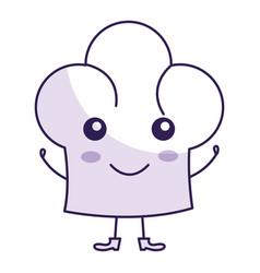 Chef hat kawai character vector