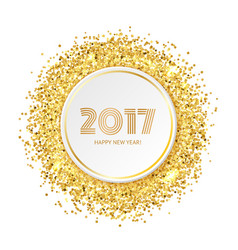 Circle with gold glitter particles vector image