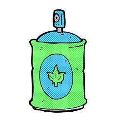 Comic cartoon fragrance spray vector