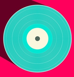 Flat Design Retro Vinyl Record vector image vector image