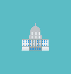 flat icon capitol element of vector image