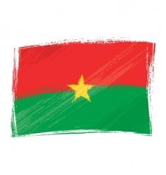 grunge Burkina Faso flag vector image vector image
