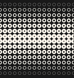 halftone circles and rings geometric background vector image