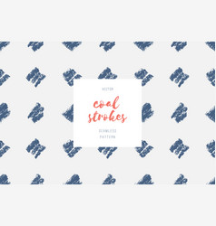 hand drawn coal strokes pattern vector image
