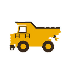 icon dump truck construction machinery vector image