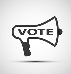 Icon megaphone with the word vote vector