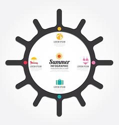 Infographics sun design summer concept vector