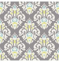 luxury vintage damask pattern vector image