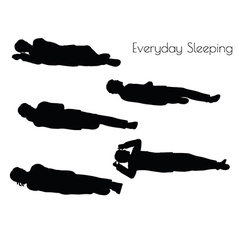 Man in everyday sleeping pose vector