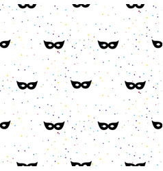 Masquerade mask simple black and white vector