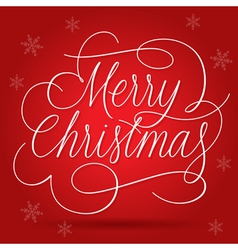 Merry Christmas Greetings Slogan vector image vector image
