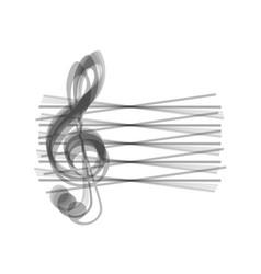Music violin clef sign g-clef gray icon vector