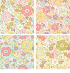 Pastel seamless floral pattern vector image vector image