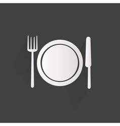 Plate web icon vector