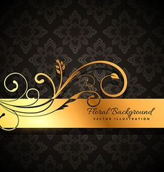 Premium golden floral background vector
