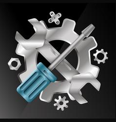 service symbol vector image
