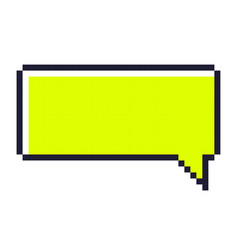 speech bubble pixel art cartoon retro game style vector image vector image