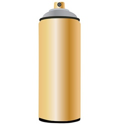 Spray bottle gold vector image vector image