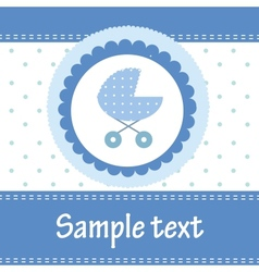 Template cards for the boy vector image