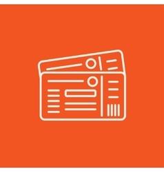 Tickets line icon vector image