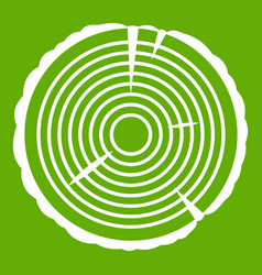 tree ring icon green vector image
