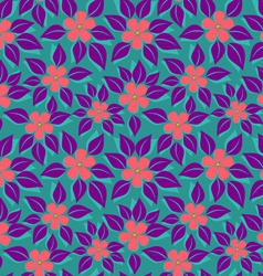 Tropical pattern purple leafs vector