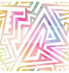 Watercolor geometric seamless pattern vector