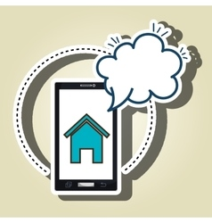 smartphone cloud home page vector image