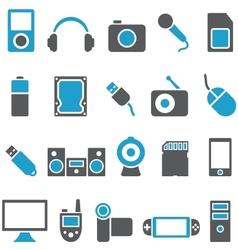 Set icons electronics and gadgets vector