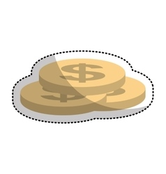 Coins money isolated icon vector