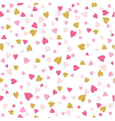 seamless background with golden and pink vector image