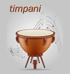 timpani drum musical instruments stock vector image