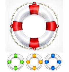 Color life buoy on white vector