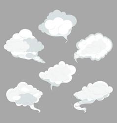 sky clouds set vector image