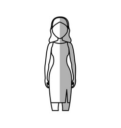 Woman cartoon icon vector