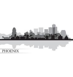 Phoenix city skyline silhouette background vector image