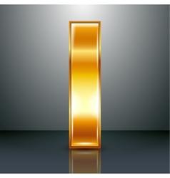 Letter metal gold ribbon - i vector
