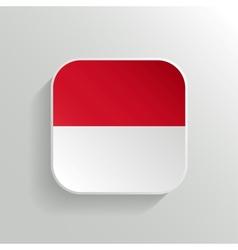 Button - indonesia flag icon vector
