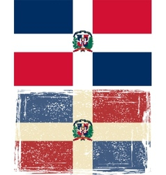 Dominican republic grunge flag  grunge effect can vector