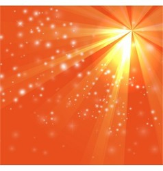 A orange color design with a burst and rays vector